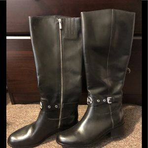 Unworn Black Michael Kors Riding Boots